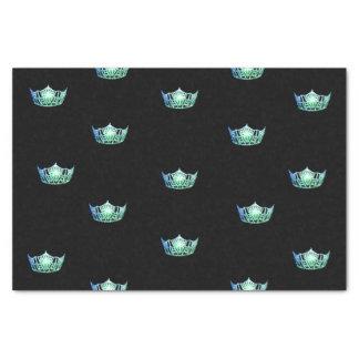 Papier de soie de soie de couronne de vert d'Aqua