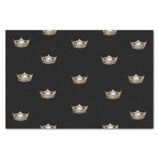 Papier de soie de soie de couronne d'or de Mlle