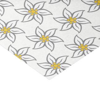 Papier de soie de soie de fleur d'edelweiss