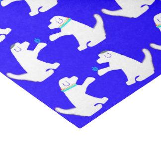 Papier de soie de soie de Hanoukka avec les chiens