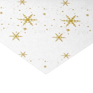 Papier de soie de soie de Noël de flocons de neige