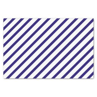 Papier de soie de soie de rayure de bleu marine