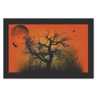 Papier de soie de soie éffrayant de Halloween