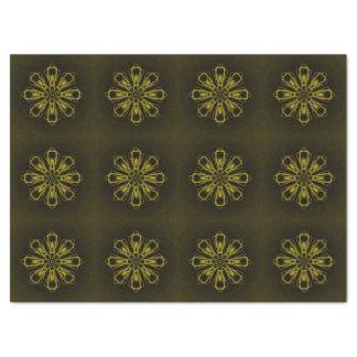 Papier de soie de soie fait sur commande d'or noir