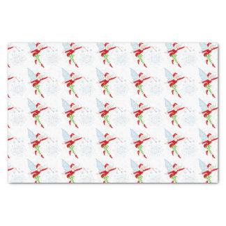Papier de soie de soie féerique du Joyeux Noël