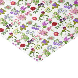 Papier de soie de soie floral de jardin français