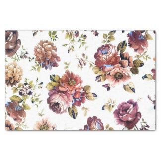 Papier de soie de soie floral vintage de motif