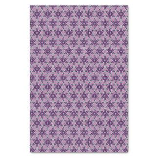Papier de soie de soie géométrique de fleur