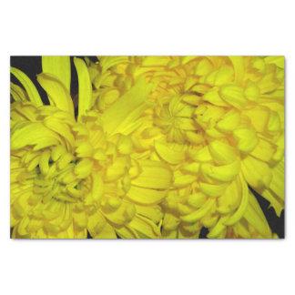 Papier de soie de soie jaune de fleur