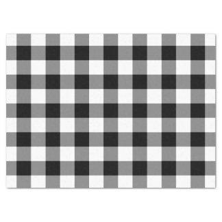Papier de soie de soie noir et blanc de motif de