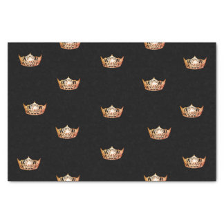 Papier de soie de soie orange de couronne de Mlle
