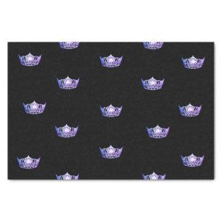 Papier de soie de soie pourpre de couronne de Mlle
