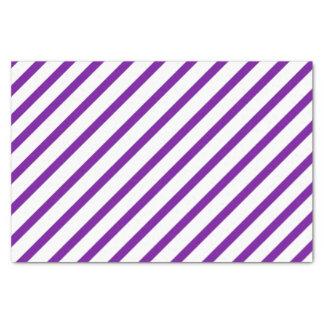 Papier de soie de soie pourpre de rayure