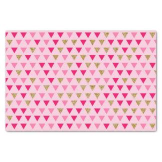 Papier de soie de soie rose