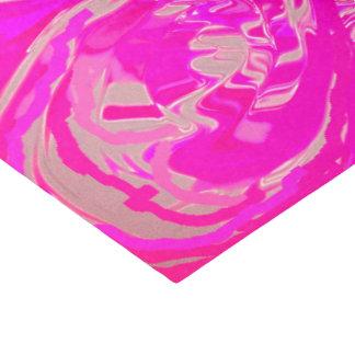 Papier de soie de soie rose de couleurs exotiques