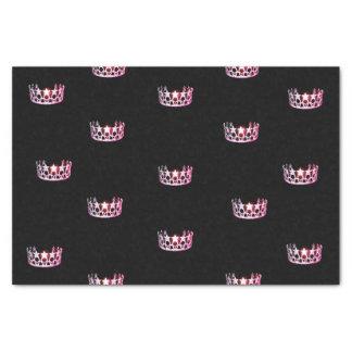 Papier de soie de soie rose de couronne de la Mlle