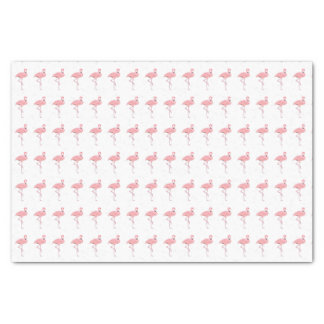 Papier de soie de soie rose de motif de flamant