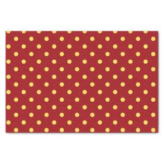 Papier de soie de soie rouge et jaune moyen de