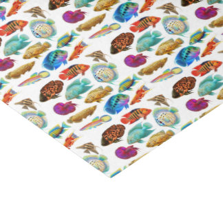 Papier de soie de soie tropical de poissons
