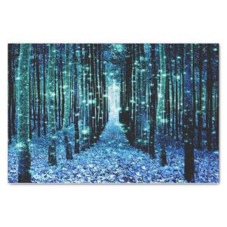 Papier de soie de soie : Turquoise magique Teal de
