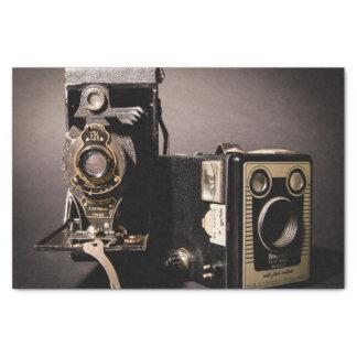 papier de soie de soie vintage d'appareils-photo