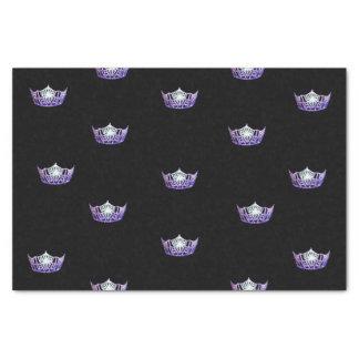 Papier de soie de soie violet de couronne de Mlle