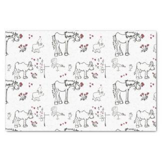 Papier de tissu animal de Valentine Papier Mousseline