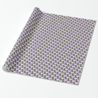 Papier d'emballage cadeau de moutons noirs de papier cadeau