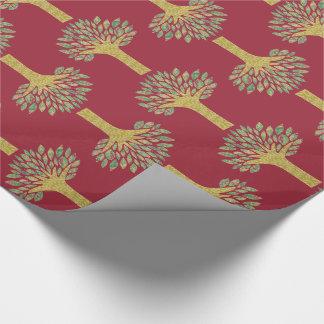 Papier d'emballage d'arbre papier cadeau