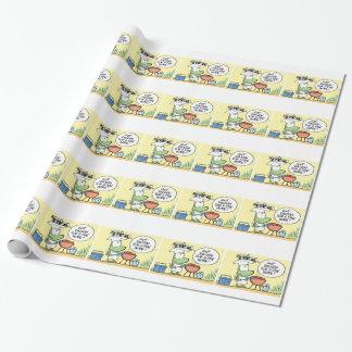 Papier d'emballage de bande dessinée de BBQ de Papier Cadeau