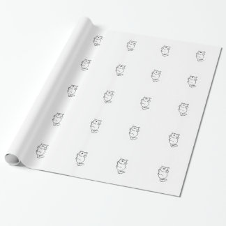 Papier d'emballage de chinchilla papier cadeau