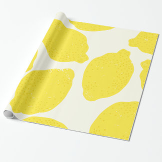 Papier d'emballage de citrons papier cadeau