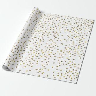 Papier d'emballage de confettis de scintillement papiers cadeaux noël