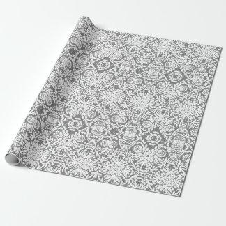 Papier d'emballage de dentelle florale artistique papier cadeau