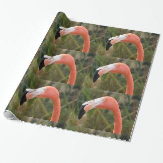 Papier d'emballage de flamant papier cadeau