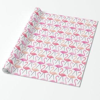 Papier d'emballage de flamants roses papiers cadeaux noël