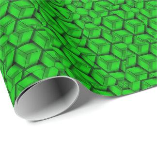 Papier d'emballage de forme géométrique verte papier cadeau