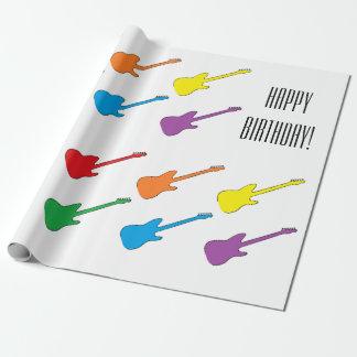 """Papier d'emballage de """"guitares"""" papiers cadeaux"""