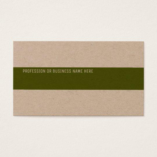 papier d'emballage de la meilleure qualité avec cartes de visite