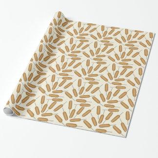 Papier d'emballage de motif de chien de maïs papiers cadeaux