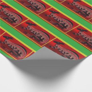Papier d'emballage de Noël indigène de kangourou Papier Cadeau