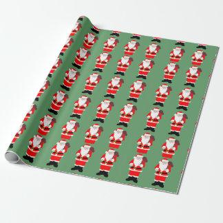 Papier d'emballage de Père Noël de Joyeux Noël Papier Cadeau