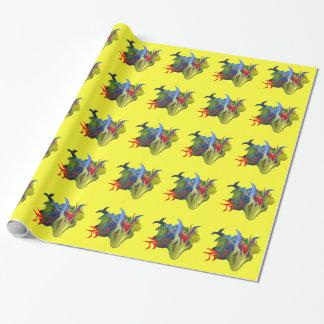 """Papier d'emballage de """"Tinkerbell et de la bougie"""" Papiers Cadeaux"""