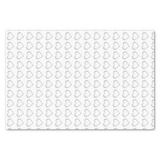 Papier d'emballage de tissu de coeurs de tableau papier mousseline
