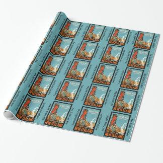 Papier d'emballage de voyage vintage de la papier cadeau