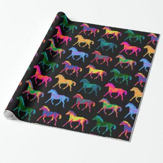 Papier d'emballage de WildHerdz de poneys de motif Papier Cadeau
