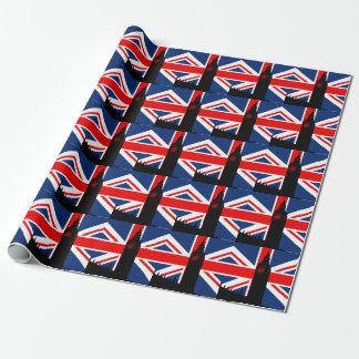Papier d'emballage du Parlement d'Union Jack Big Papier Cadeau