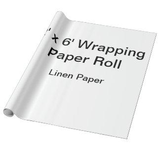 Papier d'emballage fait sur commande (petit pain papier cadeau