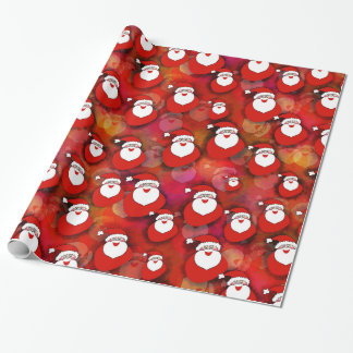Papier d'emballage gai de Père Noël Papier Cadeau