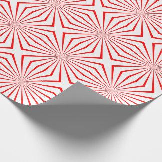 Papier d'emballage génial de conception rouge et papier cadeau